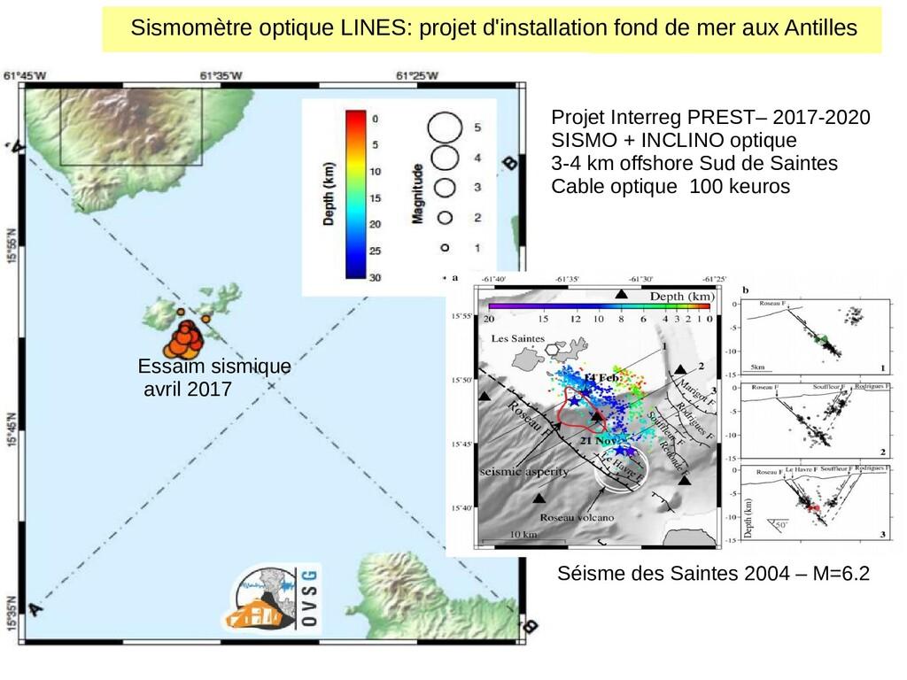 Essaim sismique avril 2017 Projet Interreg PRES...