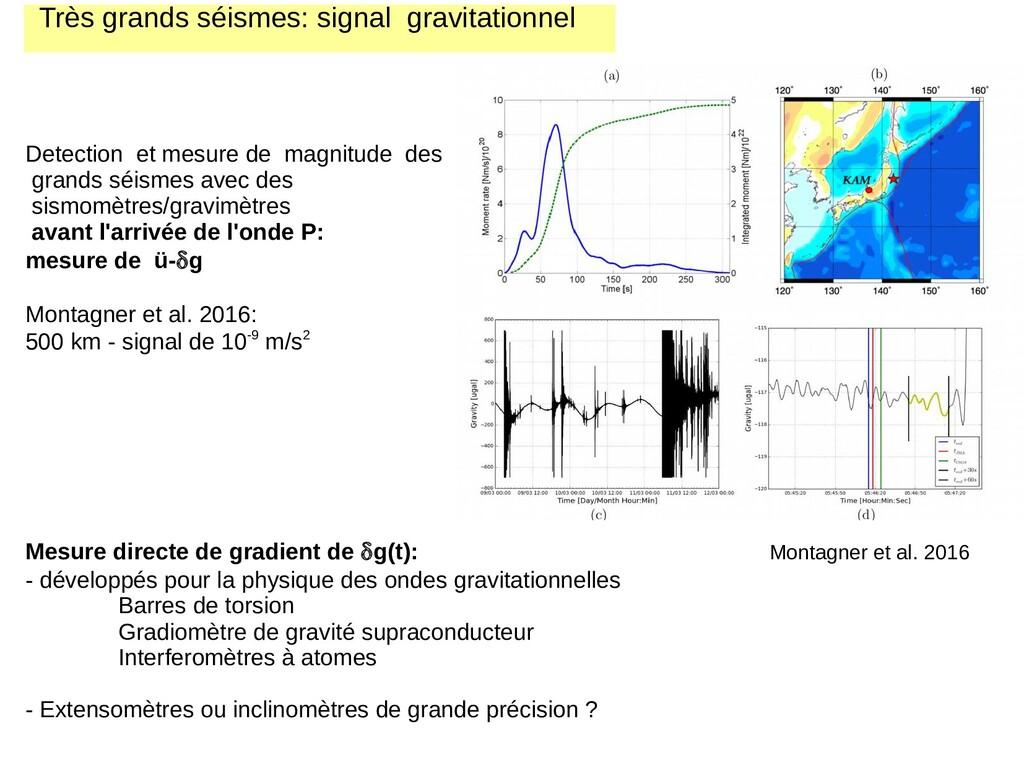 Très grands séismes: signal gravitationnel Dete...