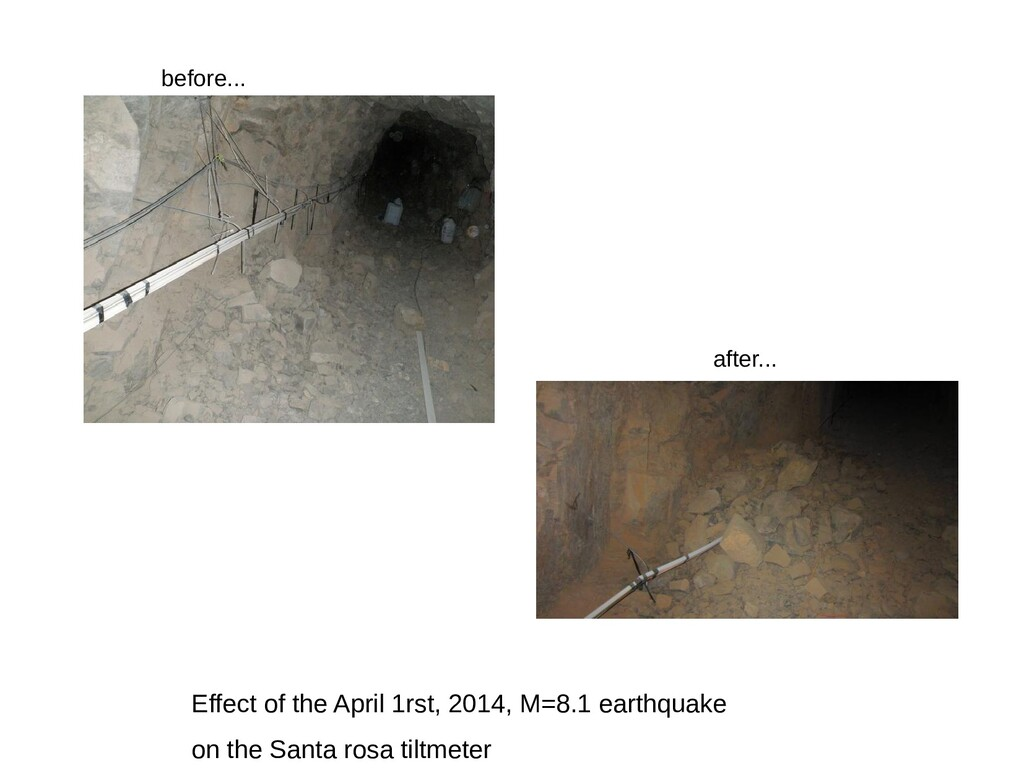 Effect of the April 1rst, 2014, M=8.1 earthquak...