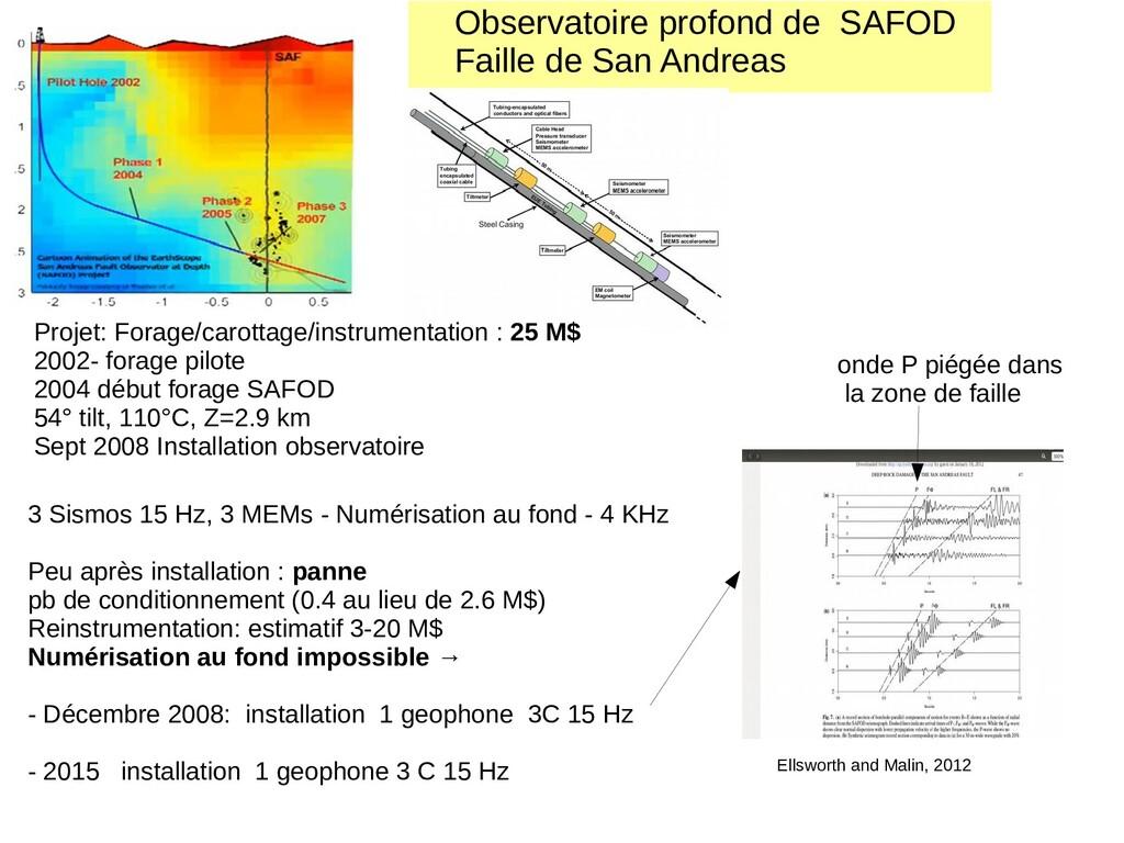 Observatoire profond de SAFOD Faille de San And...