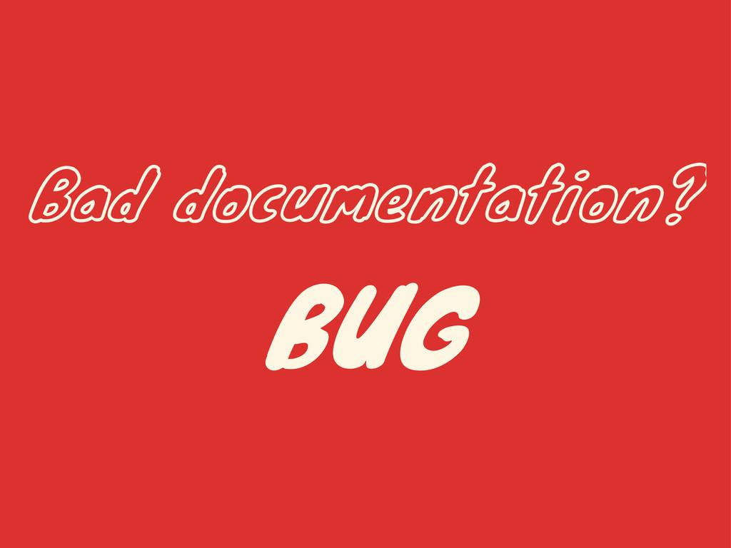 Bad documentation? BUG