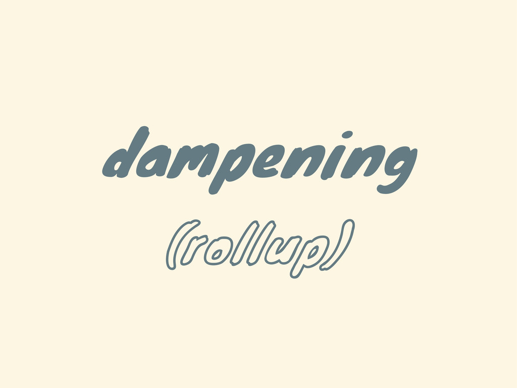 dampening (rollup)