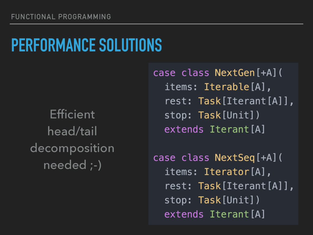 FUNCTIONAL PROGRAMMING PERFORMANCE SOLUTIONS Ef...