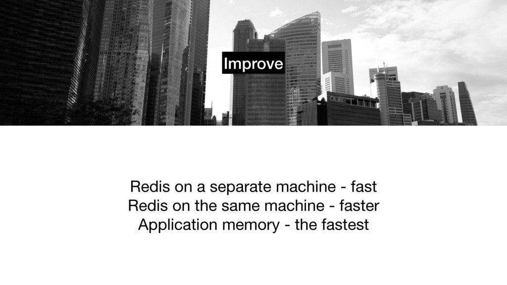 Improve Redis on a separate machine - fast  Red...
