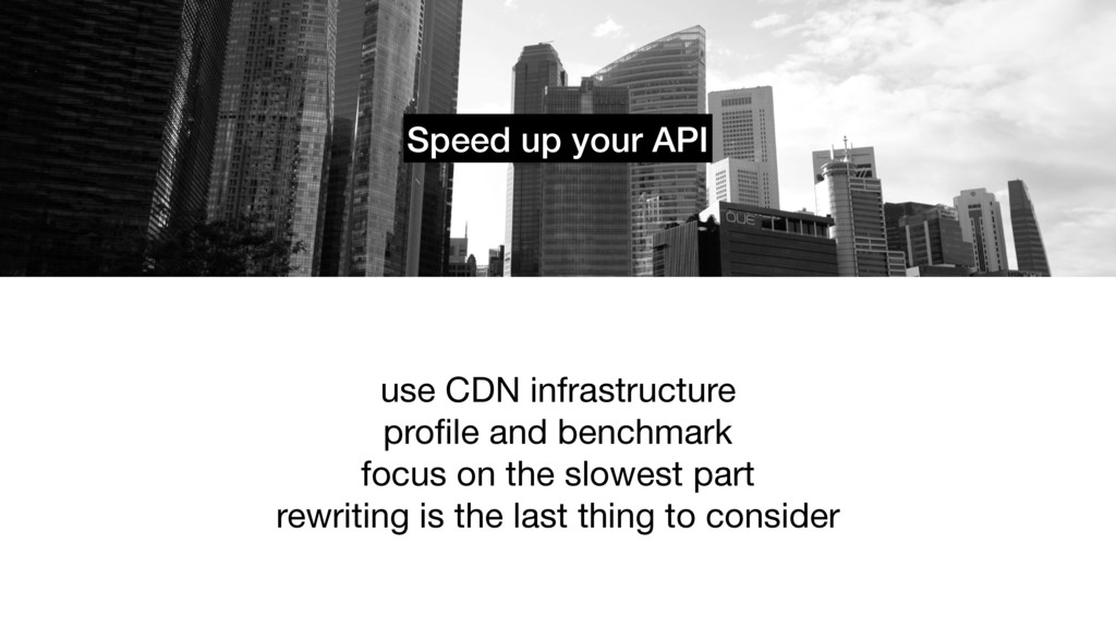 Speed up your API use CDN infrastructure  profil...
