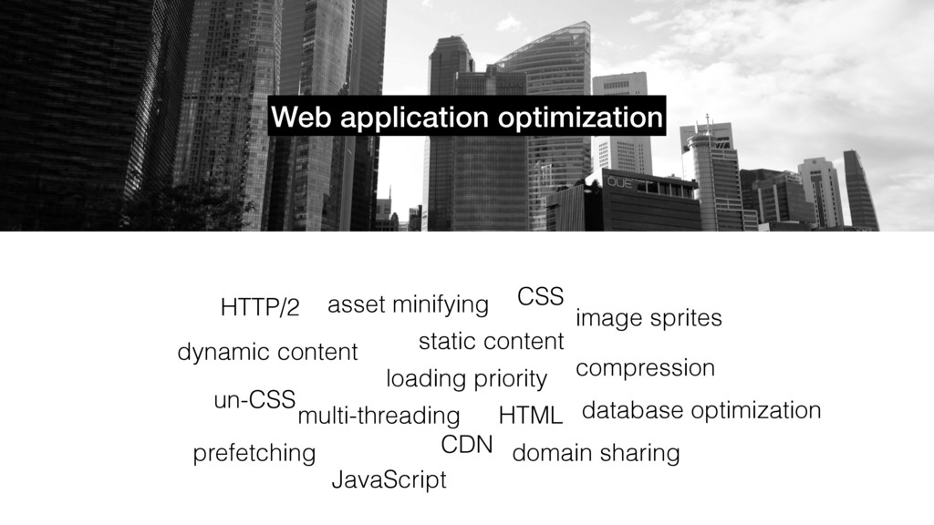 Web application optimization loading priority s...