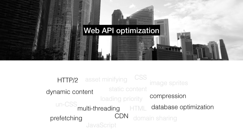 Web API optimization loading priority static co...