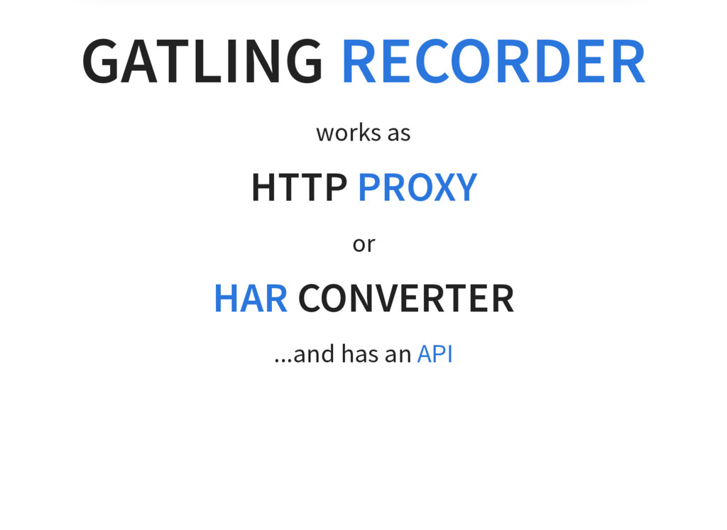 GATLING RECORDER works as HTTP PROXY or CONVERT...