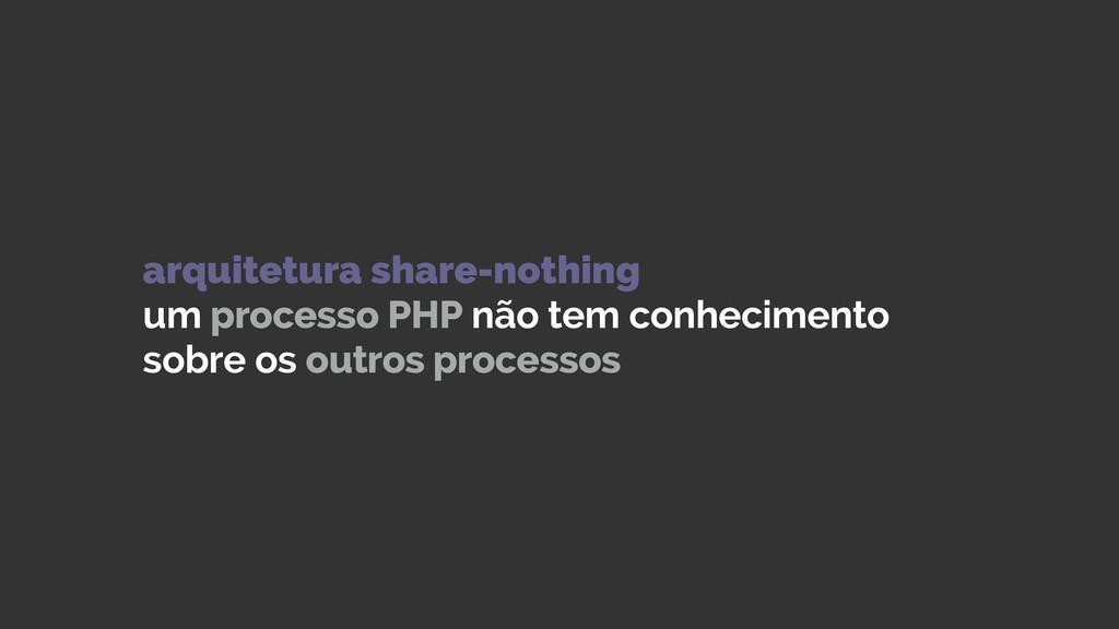 arquitetura share-nothing um processo PHP não ...