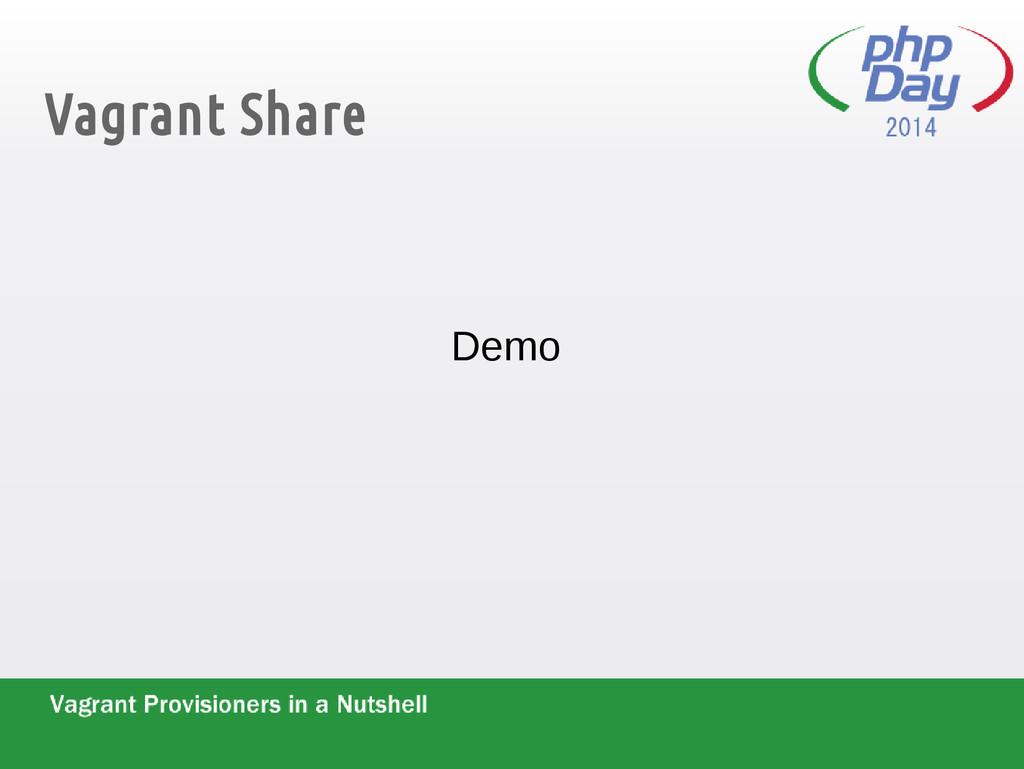Vagrant Share Demo