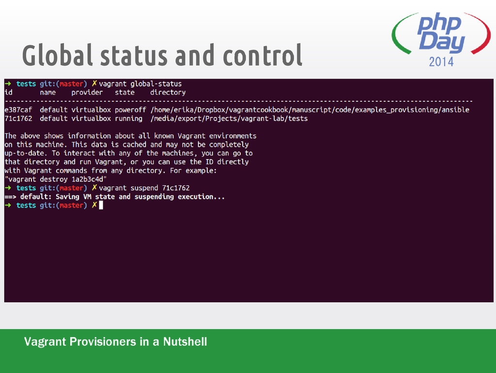 Global status and control