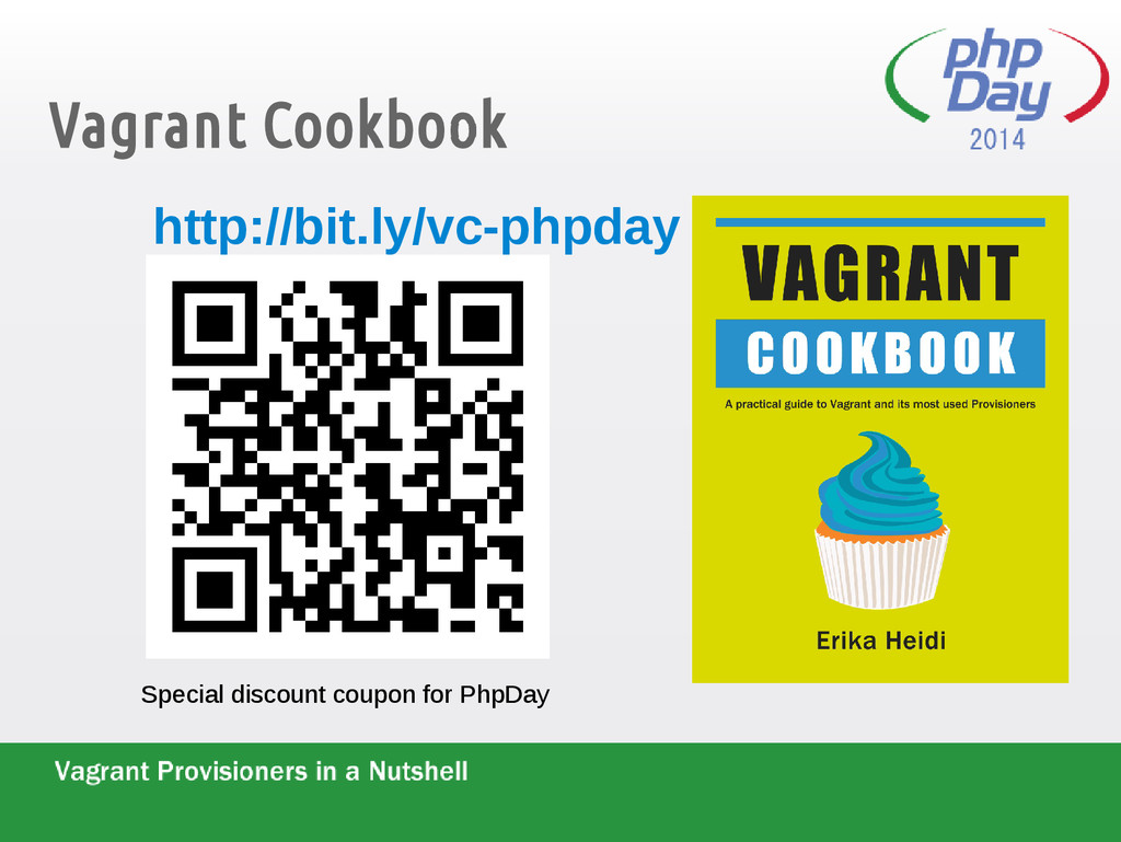 Vagrant Cookbook Special discount coupon for Ph...