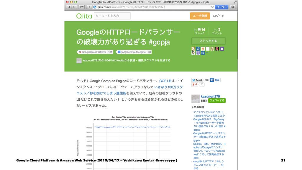 Google Cloud Platform & Amazon Web Service (201...