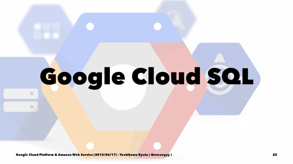 Google Cloud SQL Google Cloud Platform & Amazon...