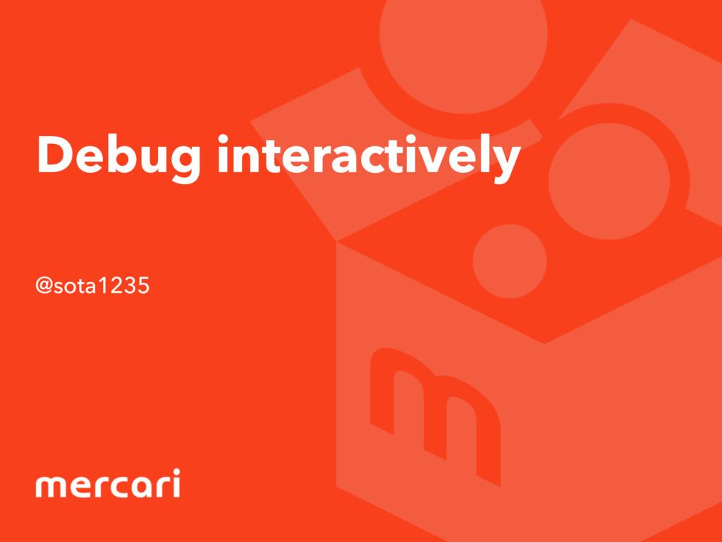 Debug interactively @sota1235