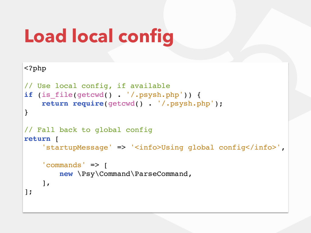 <?php // Use local config, if available if (is_...