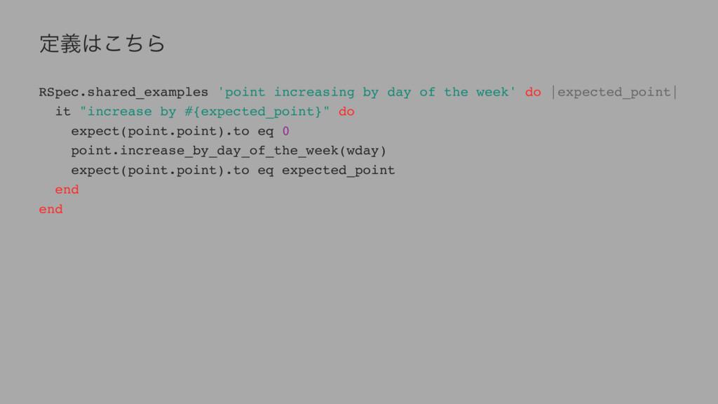 ఆٛͪ͜Β RSpec.shared_examples 'point increasing ...