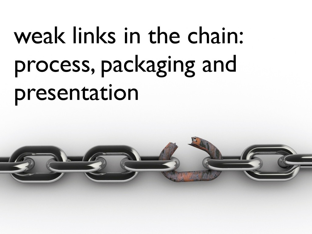 weak links in the chain: process, packaging and...