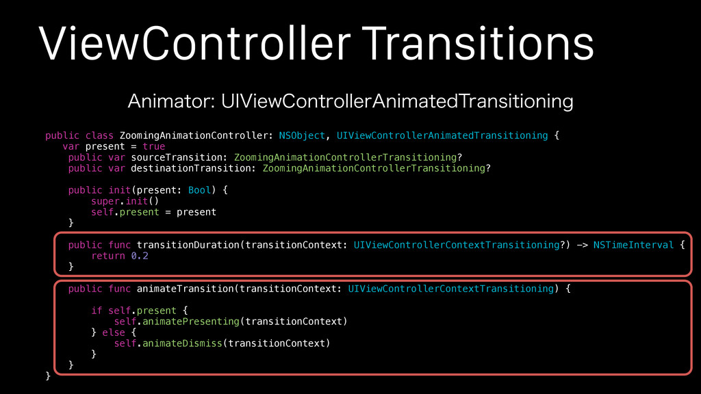 "ViewController Transitions ""OJNBUPS6*7JFX$POU..."