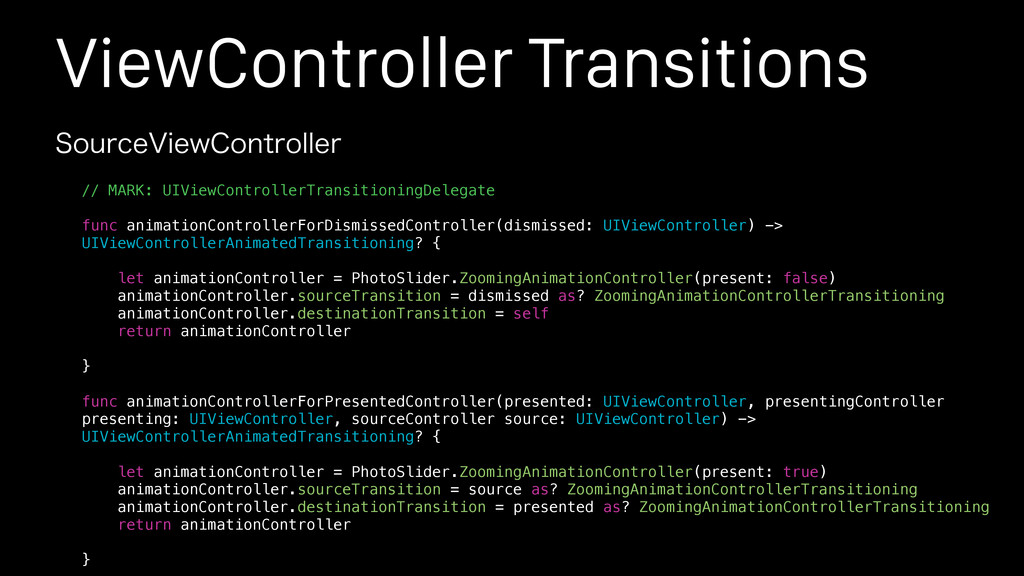 ViewController Transitions 4PVSDF7JFX$POUSPMMFS...