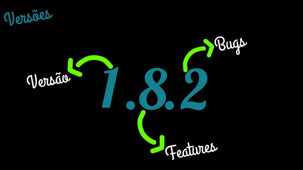 Versões 1.8.2 Versão Features Bugs