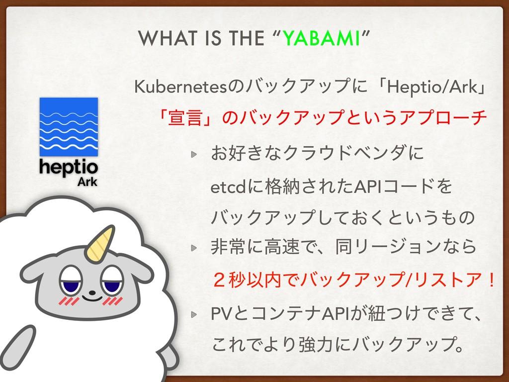 "WHAT IS THE ""YABAMI"" KubernetesͷόοΫΞοϓʹʮHeptio/..."