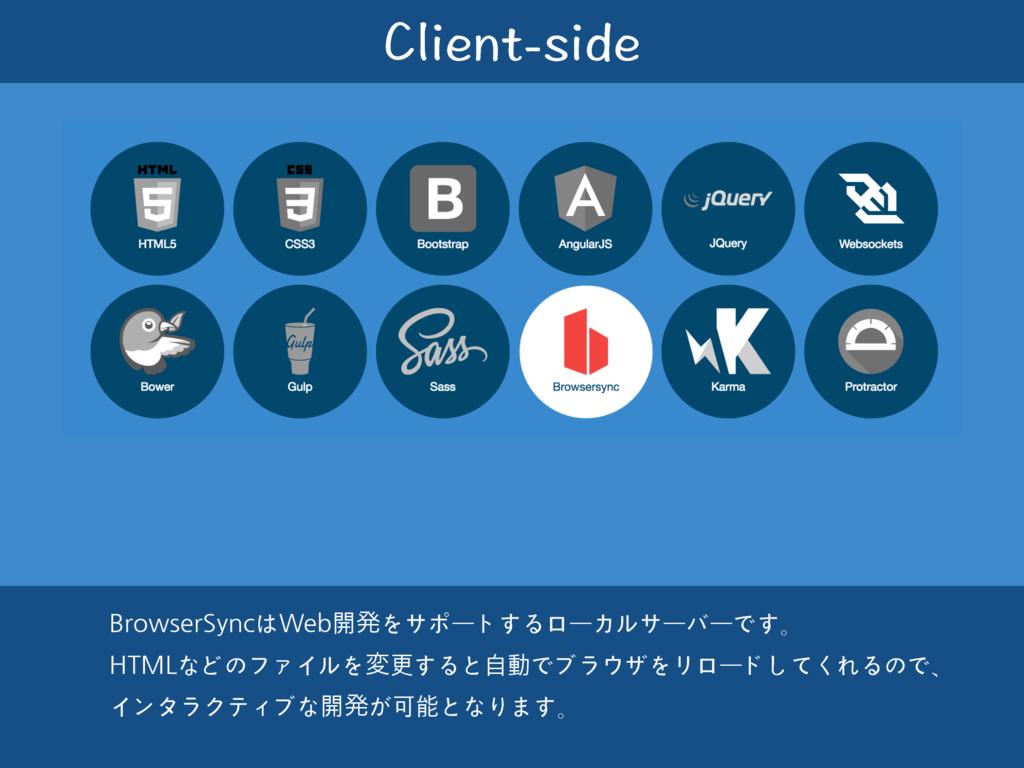 %NKGPVUKFG BrowserSyncはWeb開ൃをサポートするローカルサーバーです。...