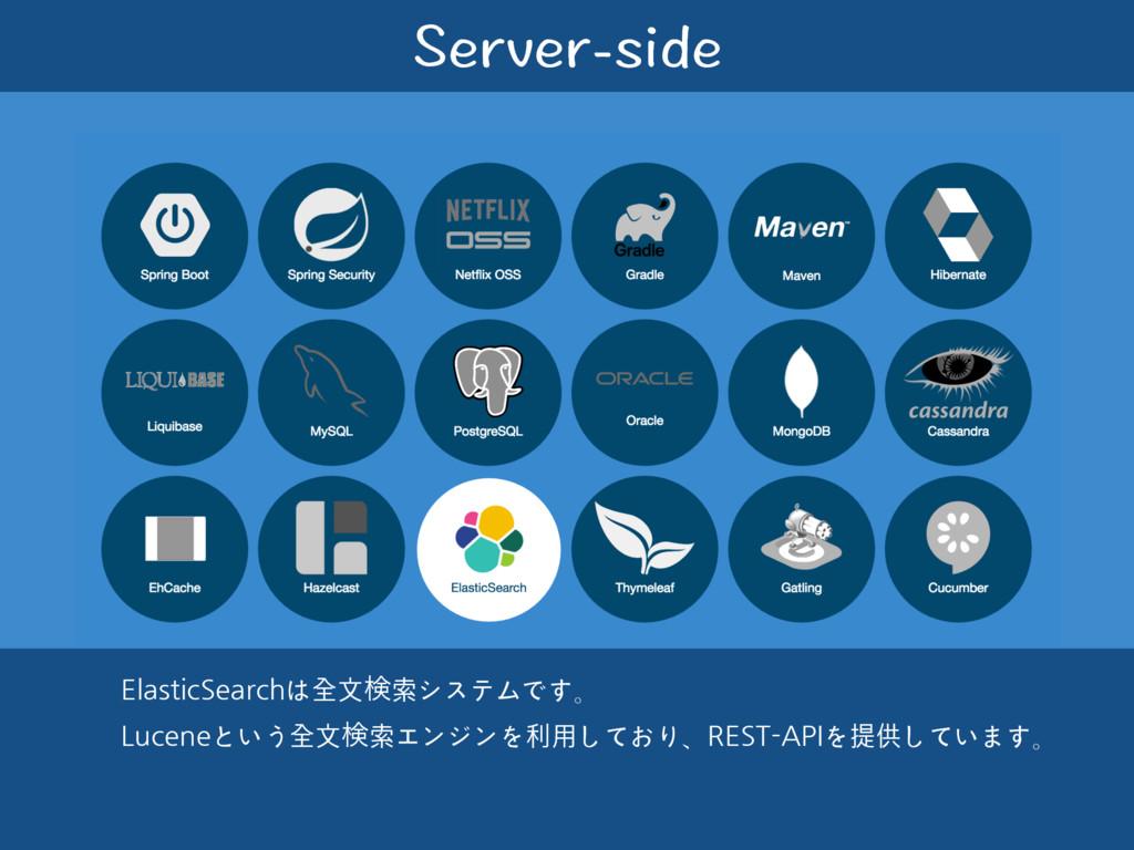 5GTXGTUKFG ElasticSearchは全⽂ݕ索システムです。 Luceneという...