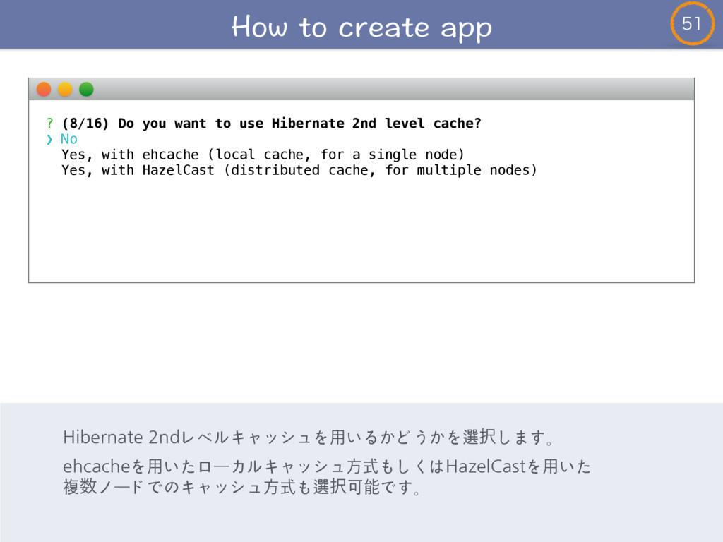 ? (8/16) Do you want to use Hibernate 2nd le...