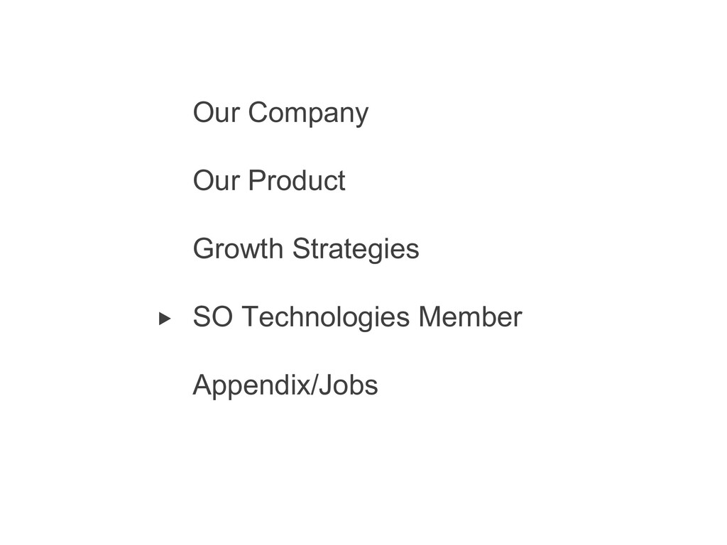 2 Our Company Our Product Growth Strategies SO ...