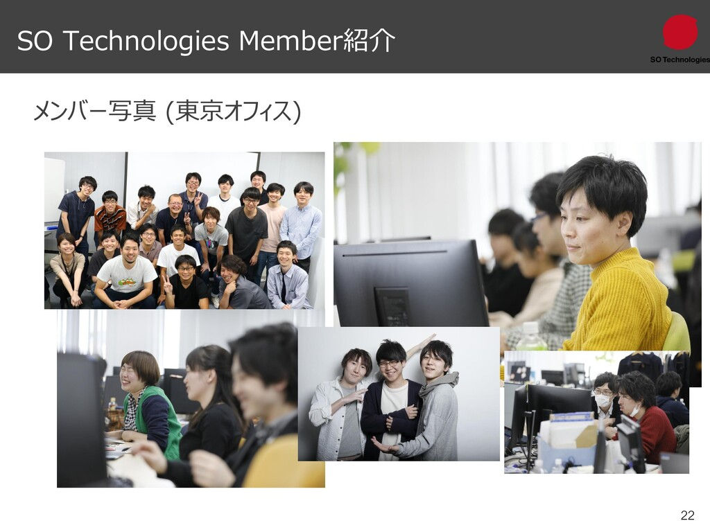 22 SO Technologies Member紹介 メンバー写真 (東京オフィス)