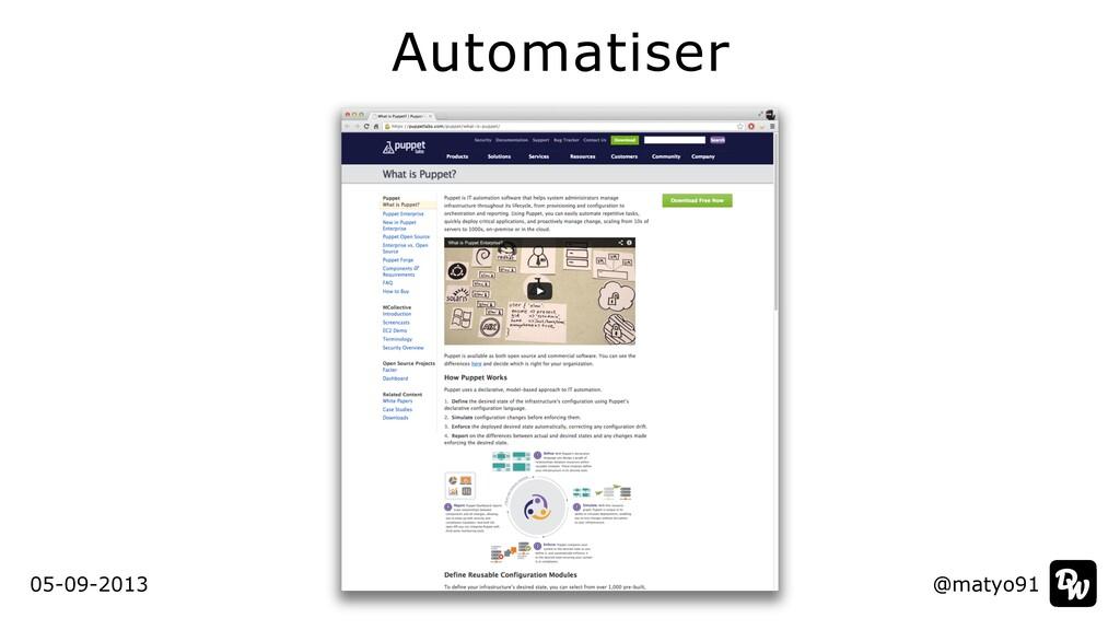 Automatiser @matyo91 @matyo91 05-09-2013