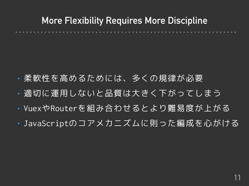 More Flexibility Requires More Discipline • 柔軟性...