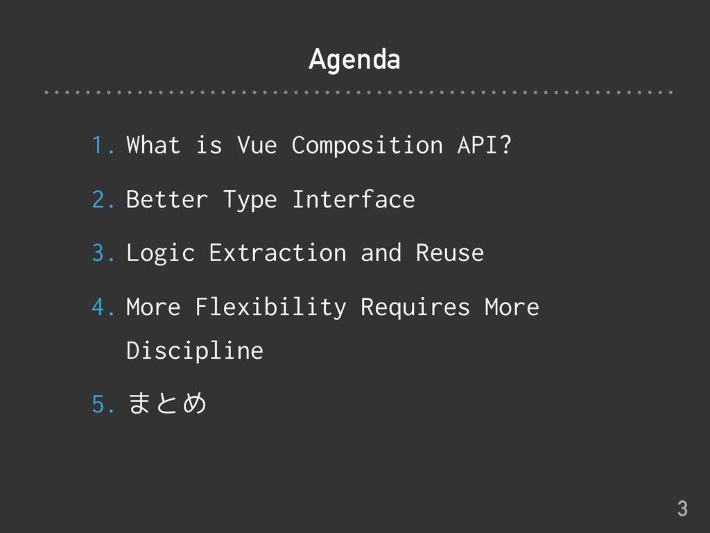 Agenda 1. What is Vue Composition API? 2. Bette...