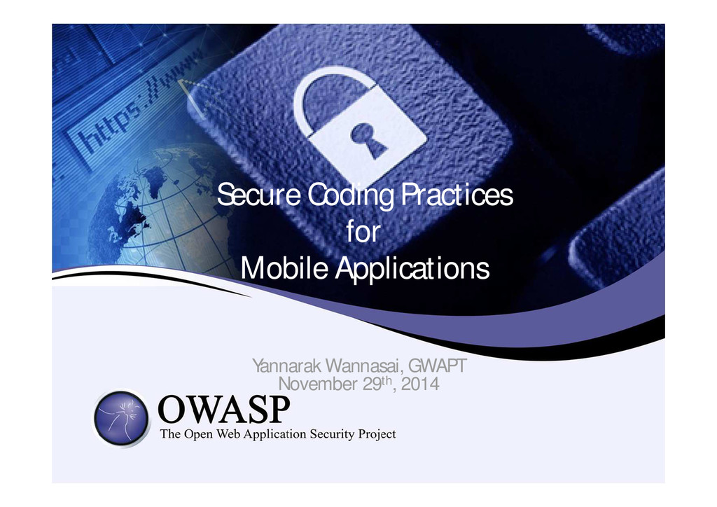 Secure Coding Practices for Mobile Applications...
