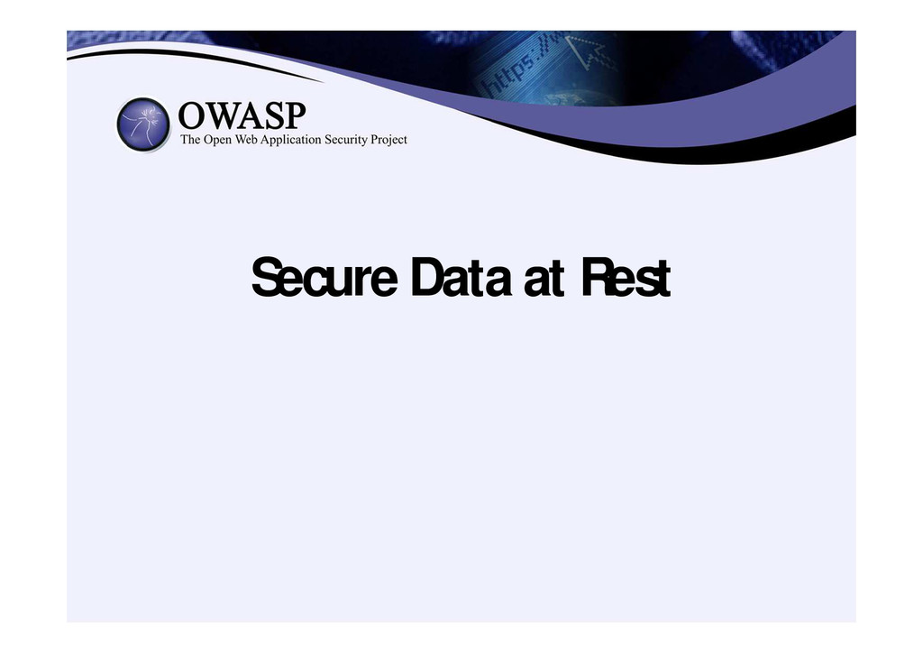 Secure Data at Rest