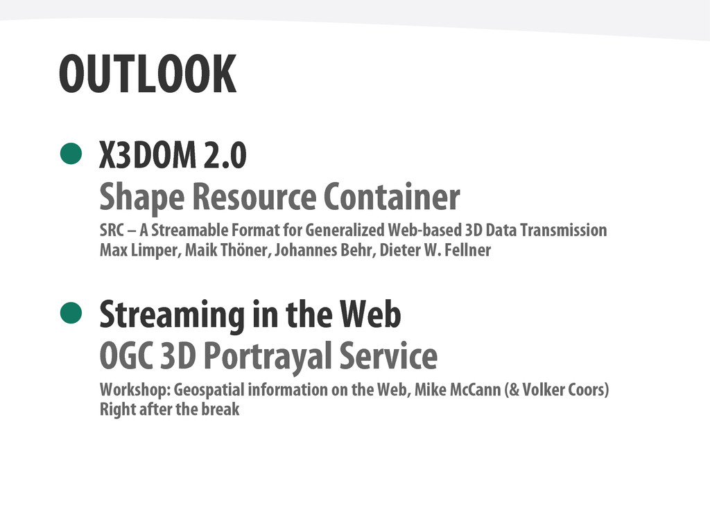 OUTLOOK X3DOM 2.0 Shape Resource Container SRC ...