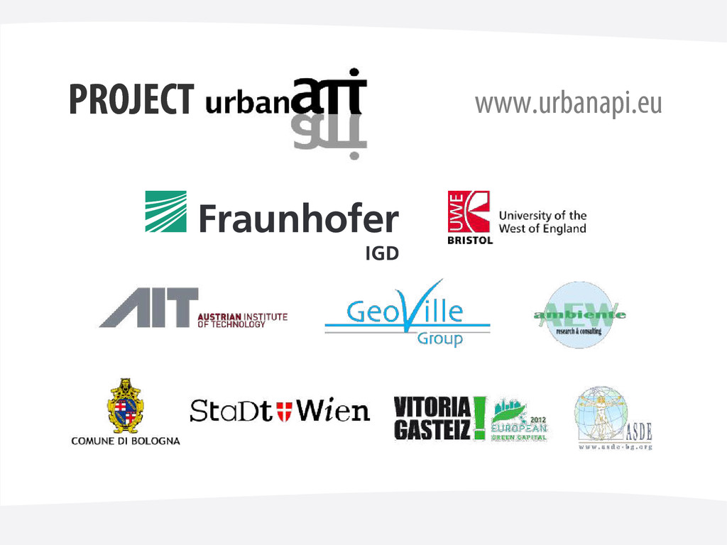 PROJECT www.urbanapi.eu