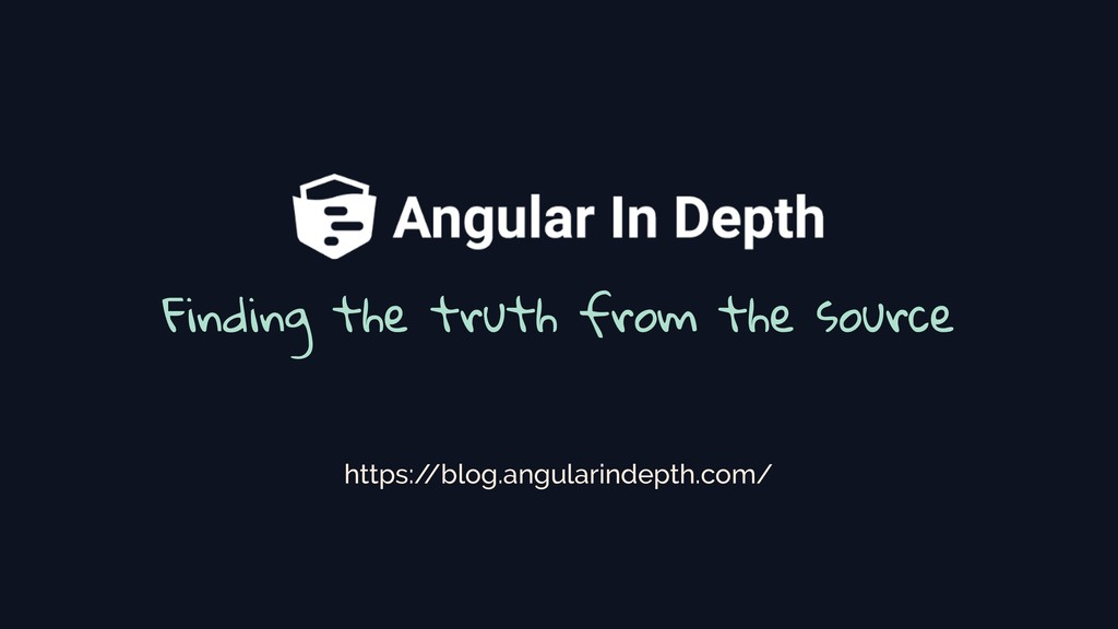 Finding the truth from the source https:/ /blog...