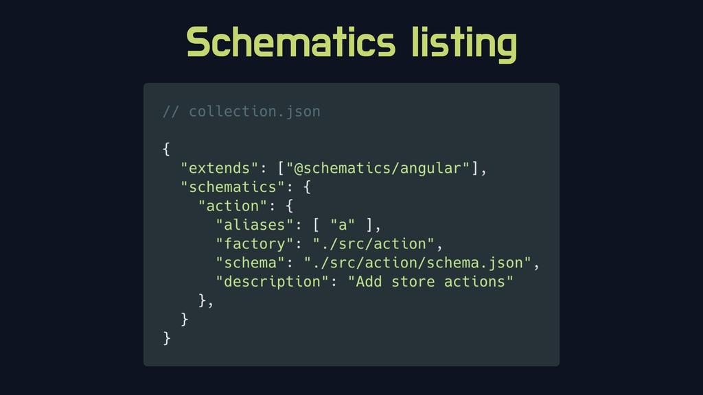 Schematics listing