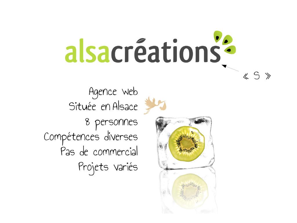 « S » Agence web Située en Alsace 8 personnes C...