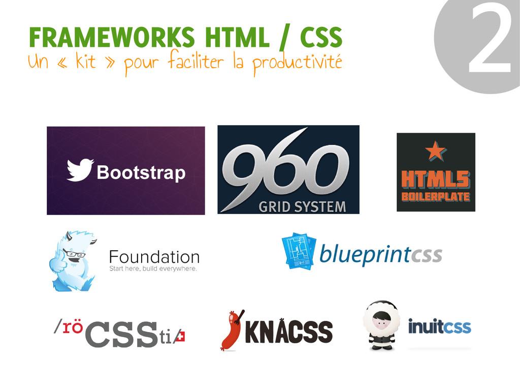 FRAMEWORKS HTML / CSS Un « kit » pour faciliter...