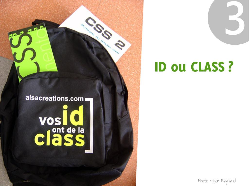 ID ou CLASS ? ❸ Photo : Igor Maynaud
