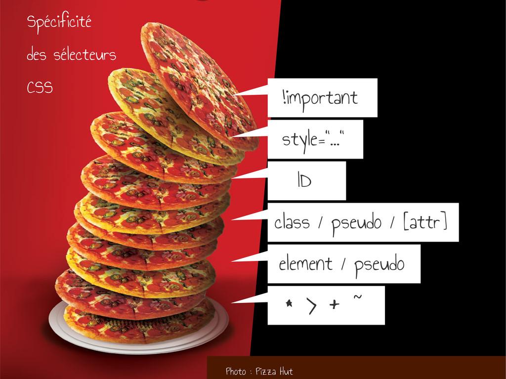 Photo : Pizza Hut * > + ~ element / pseudo clas...