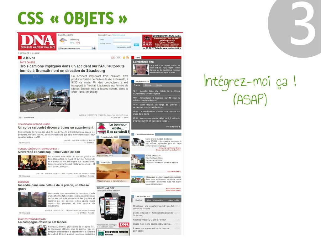 CSS « OBJETS » ❸ Intégrez-moi ça ! (ASAP)