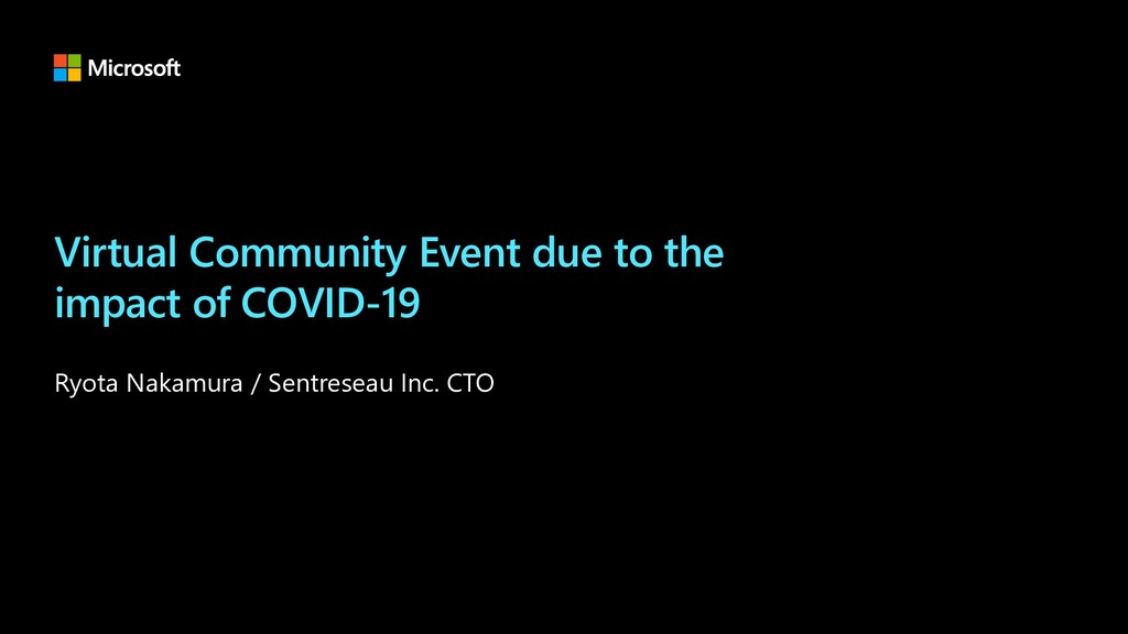 Virtual Community Event due to the impact of CO...