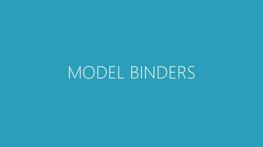 MODEL BINDERS