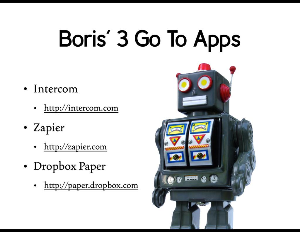 • Intercom • http://intercom.com • Zapier • htt...