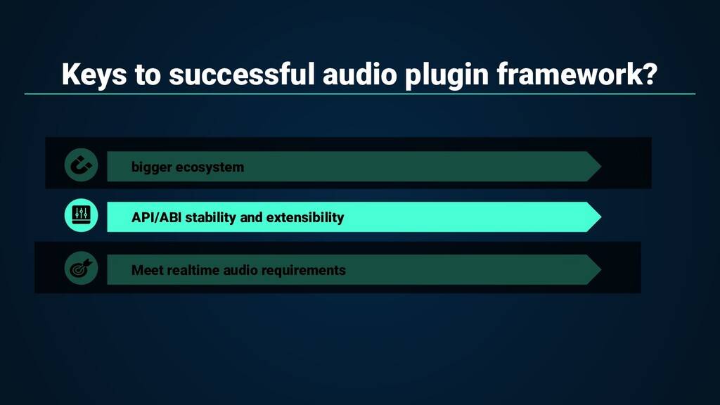Keys to successful audio plugin framework? bigg...