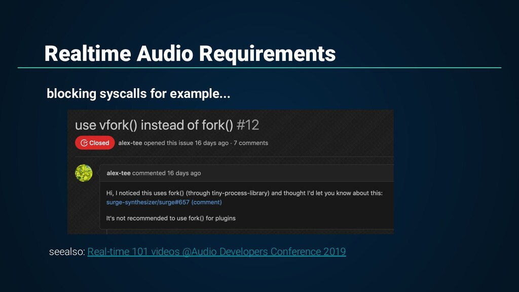 Realtime Audio Requirements blocking syscalls f...